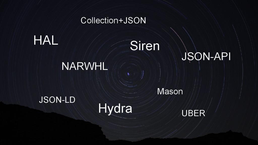 HAL Collection+JSON JSON-API Siren Hydra NARWHL...