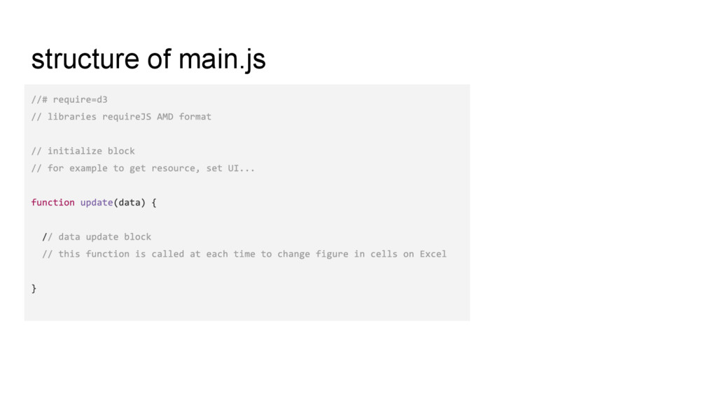 structure of main.js