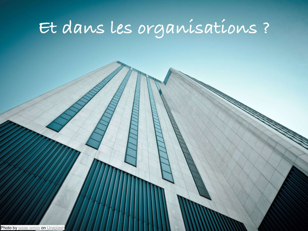 Et dans les organisations ? Photo by jesse orri...