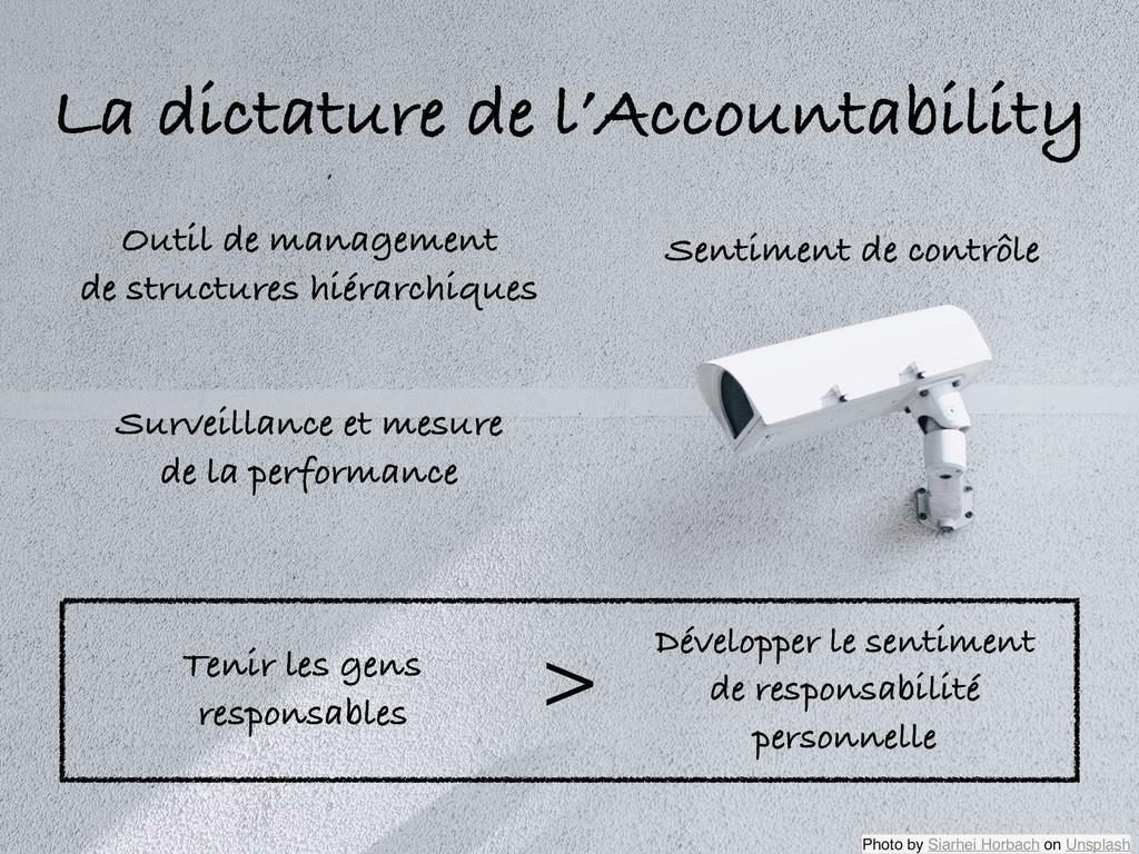 La dictature de l'Accountability Outil de manag...