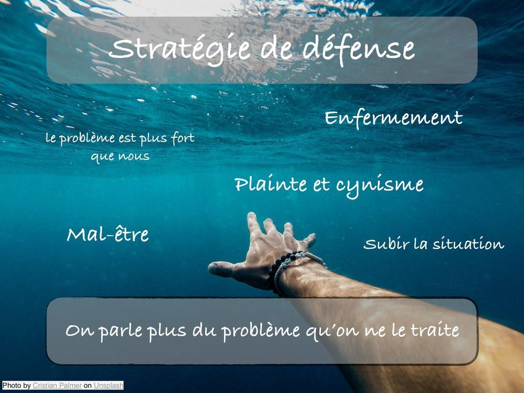 Stratégie de défense Photo by Cristian Palmer o...