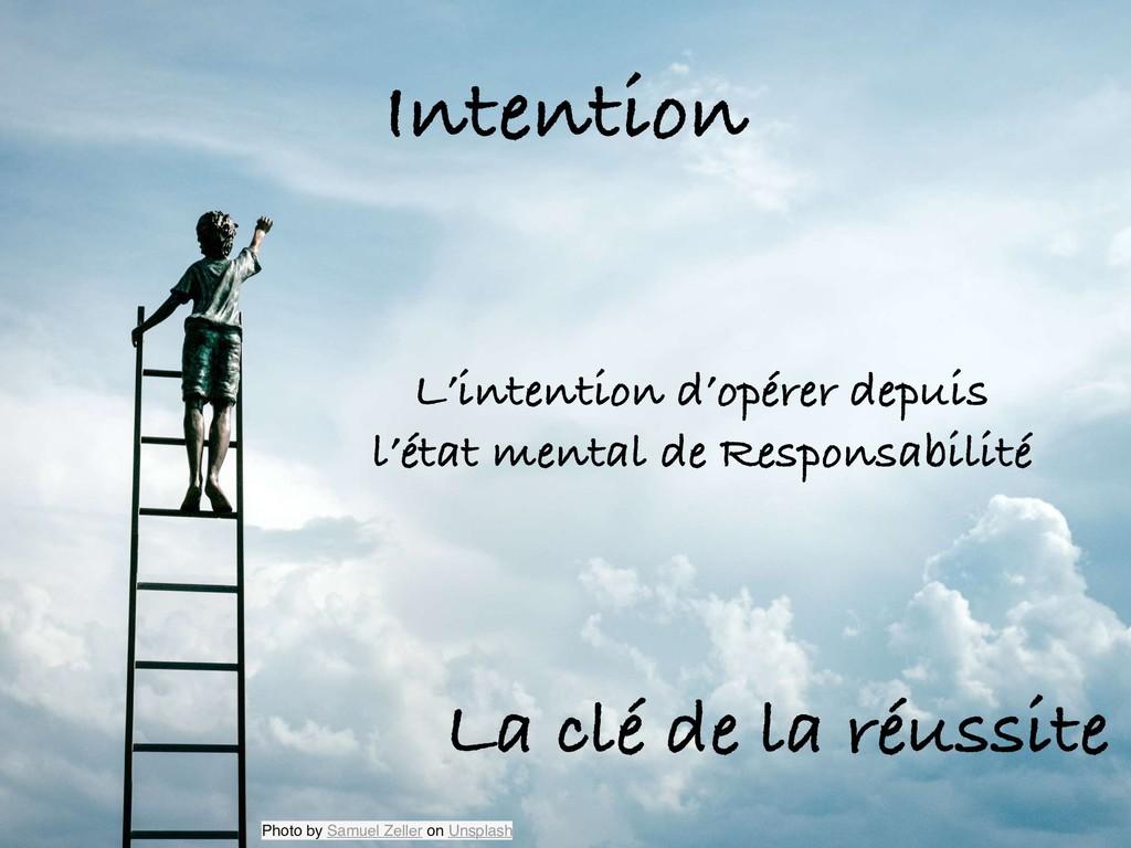 Intention L'intention d'opérer depuis l'état me...