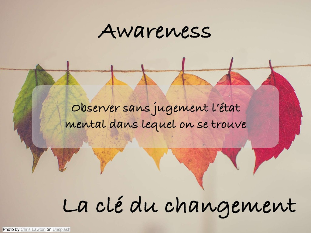 Awareness La clé du changement Observer sans ju...