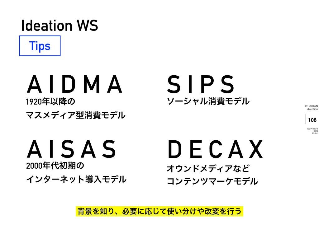 S I P S D E C A X !108 ILY. DESIGN direction CO...