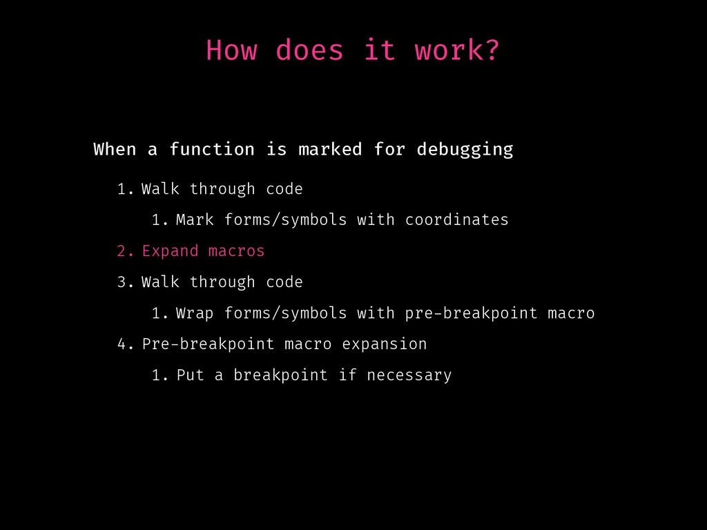 How does it work? 1. Walk through code 1. Mark ...
