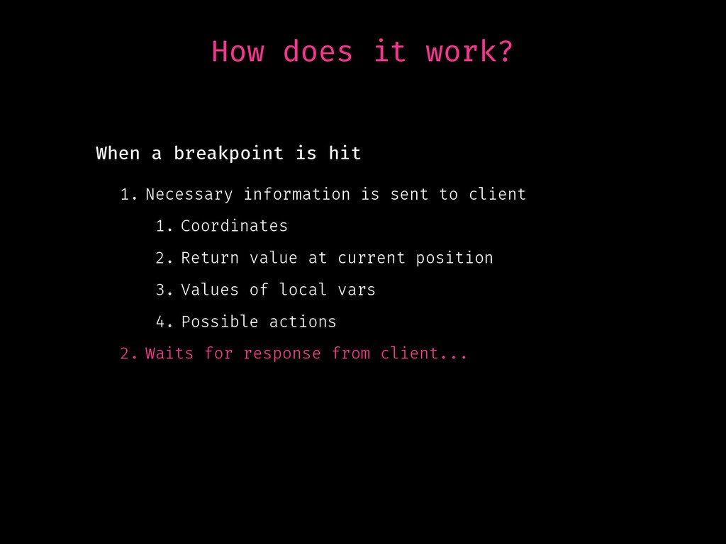 How does it work? 1. Necessary information is s...