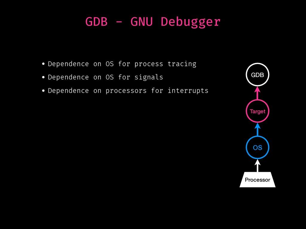 GDB - GNU Debugger • Dependence on OS for proce...