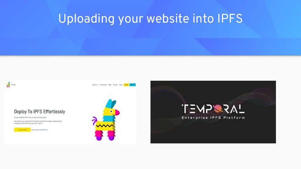 Uploading your website into IPFS