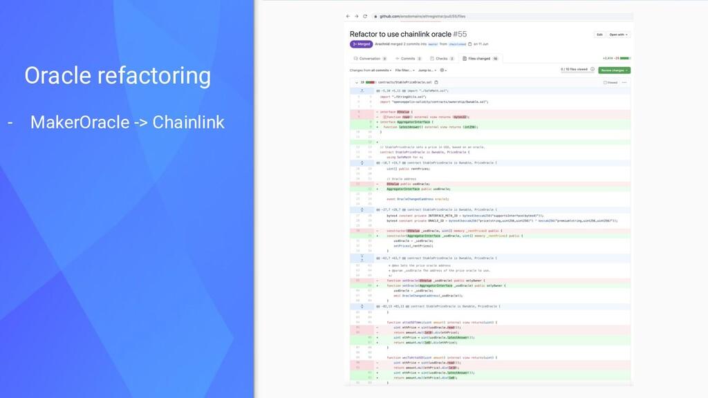 - MakerOracle -> Chainlink Oracle refactoring