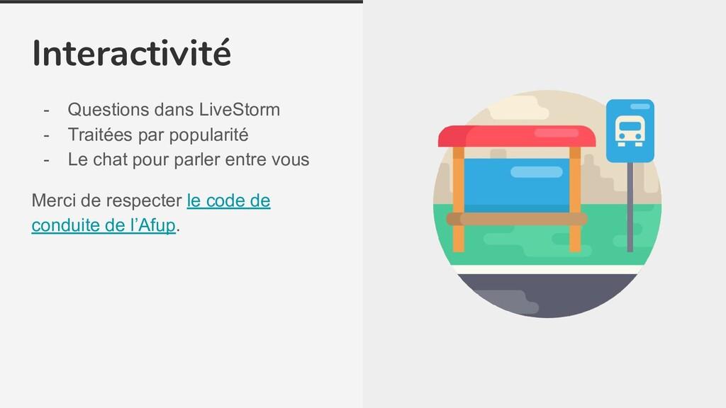 Interactivité - Questions dans LiveStorm - Trai...