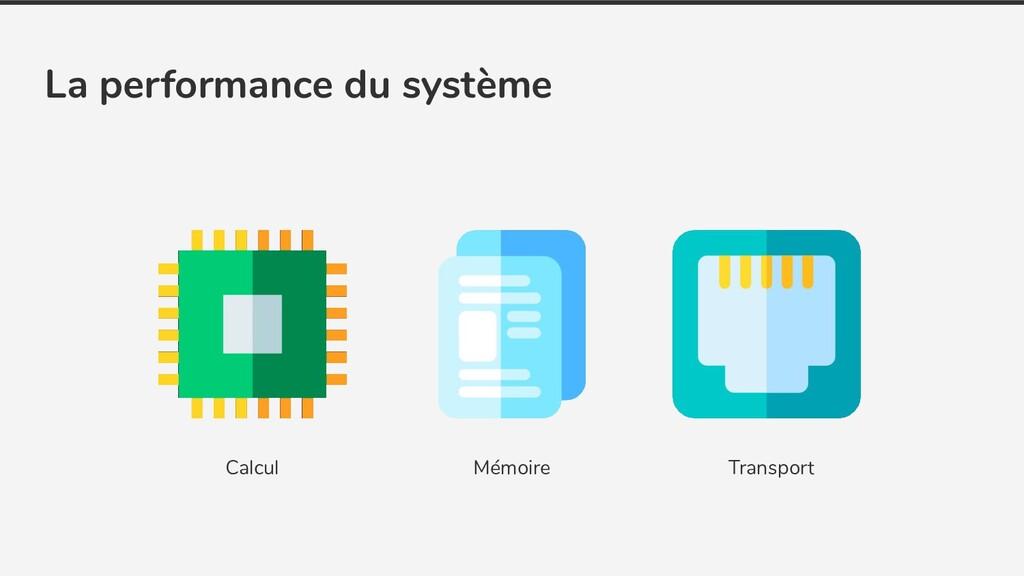 Calcul Transport Mémoire La performance du syst...