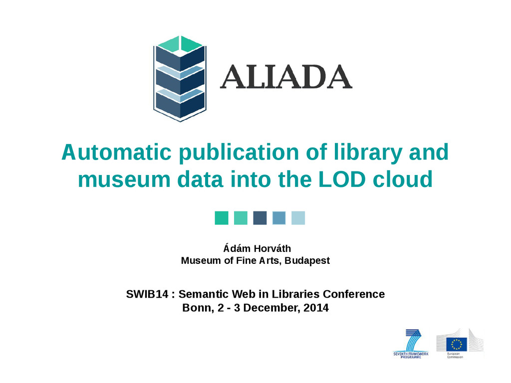 Automatic publication of library and museum dat...