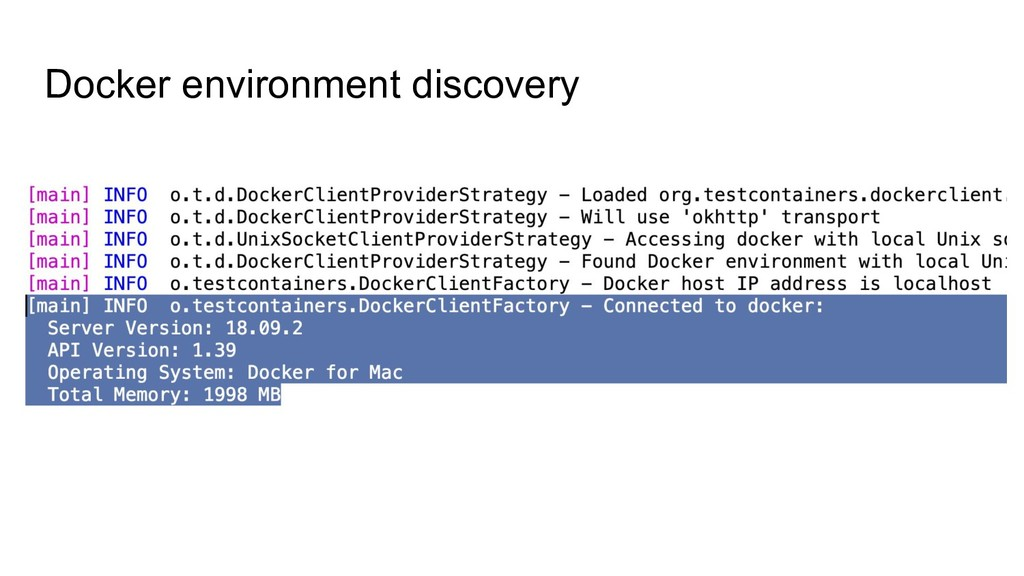 Docker environment discovery