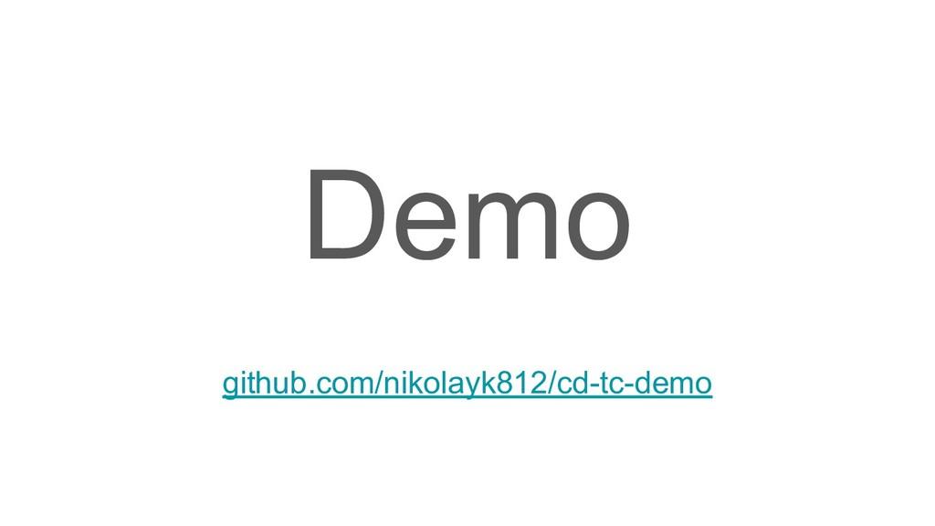 Demo github.com/nikolayk812/cd-tc-demo