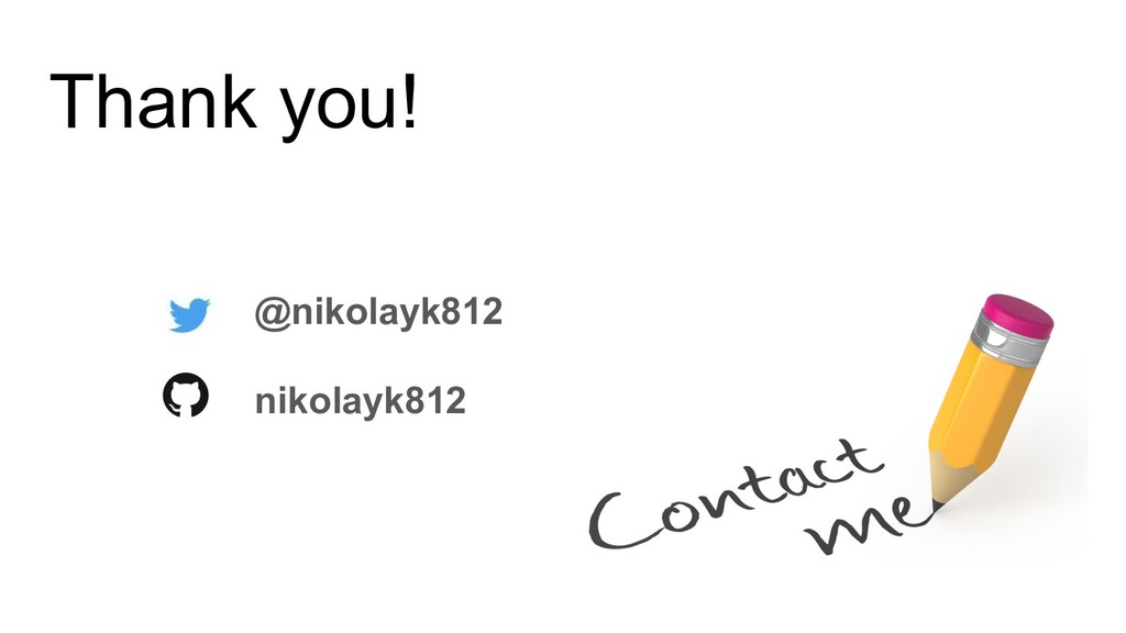 Thank you! @nikolayk812 nikolayk812