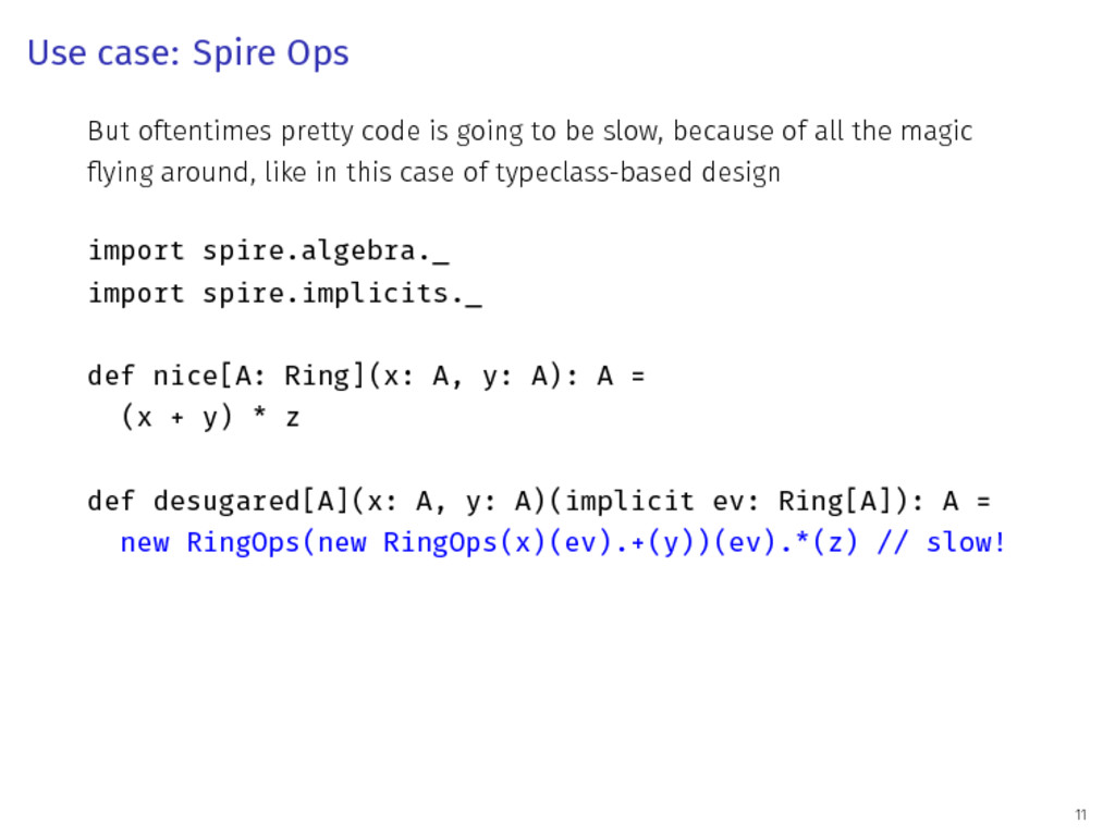 Use case: Spire Ops But oftentimes pretty code ...