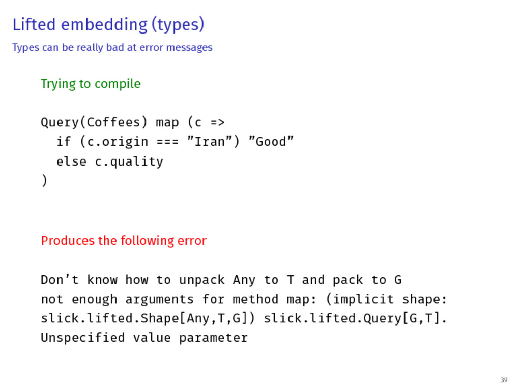 Lifted embedding (types) Types can be really ba...