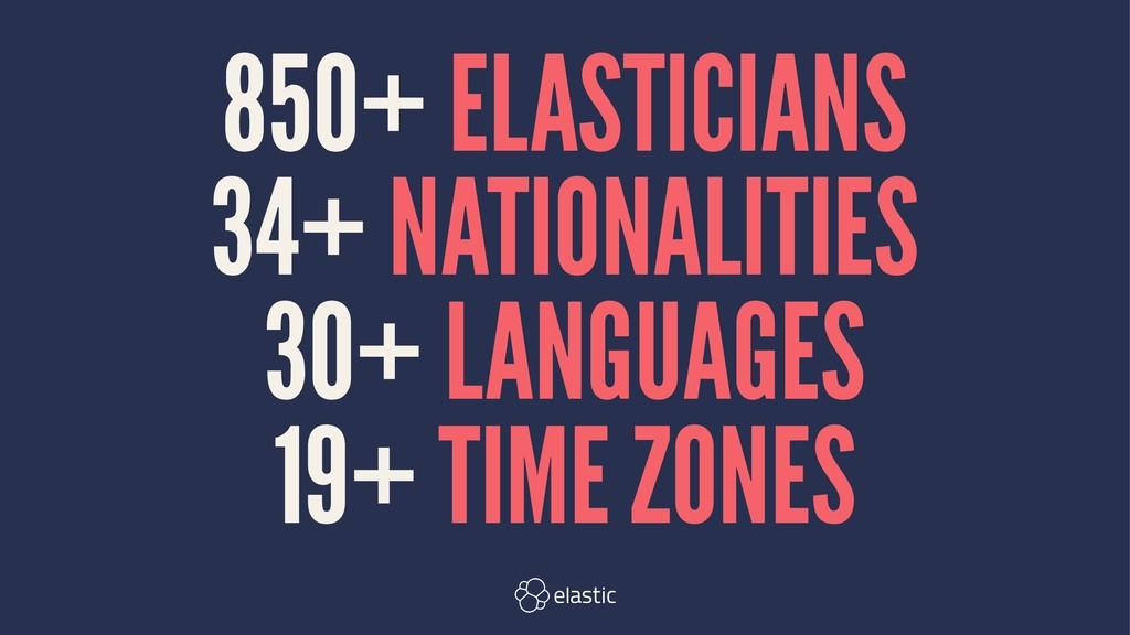 850+ ELASTICIANS 34+ NATIONALITIES 30+ LANGUAGE...