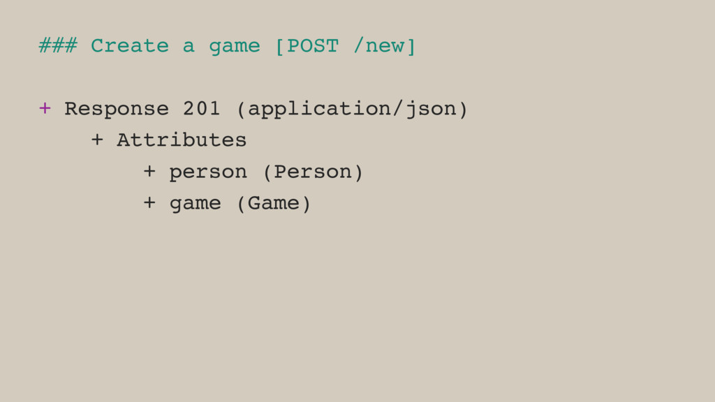 ### Create a game [POST /new] + Response 201 (a...