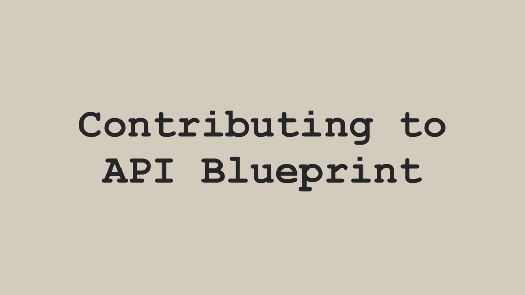 Contributing to API Blueprint