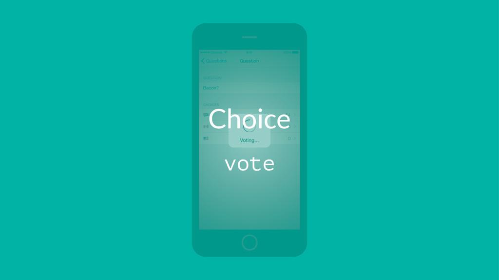 Choice vote