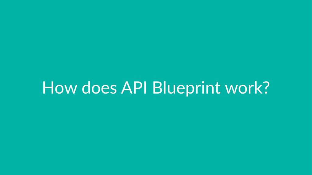 How$does$API$Blueprint$work?