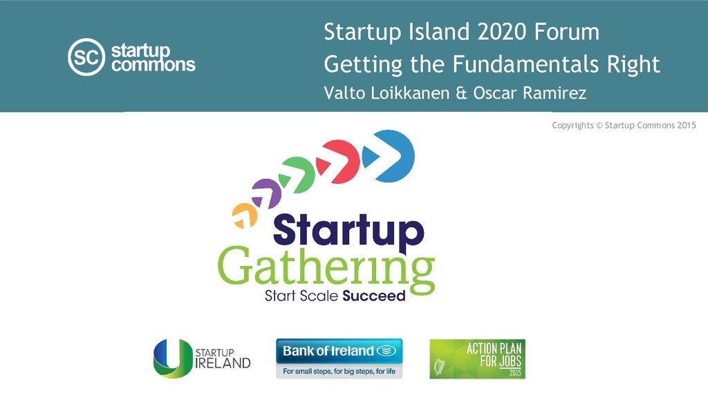 Startup Island 2020 Forum Getting the Fundament...
