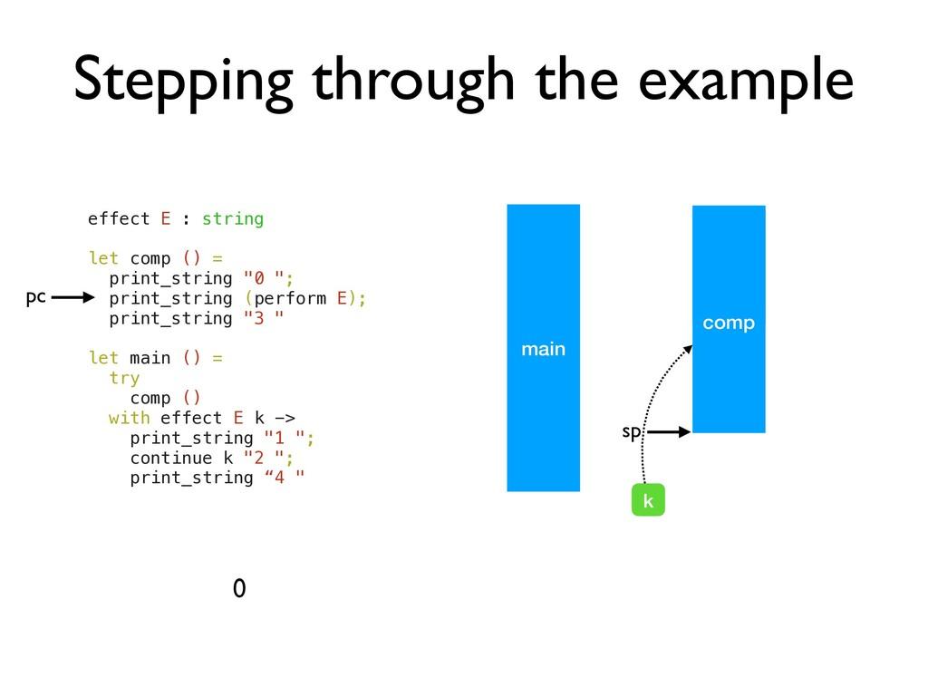 comp comp Stepping through the example effect E...