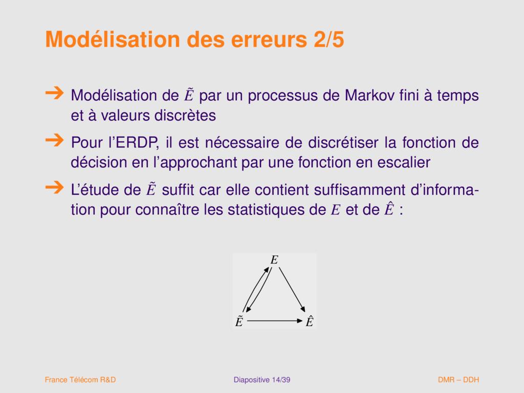 Modélisation des erreurs 2/5 Modélisation de ˜ ...