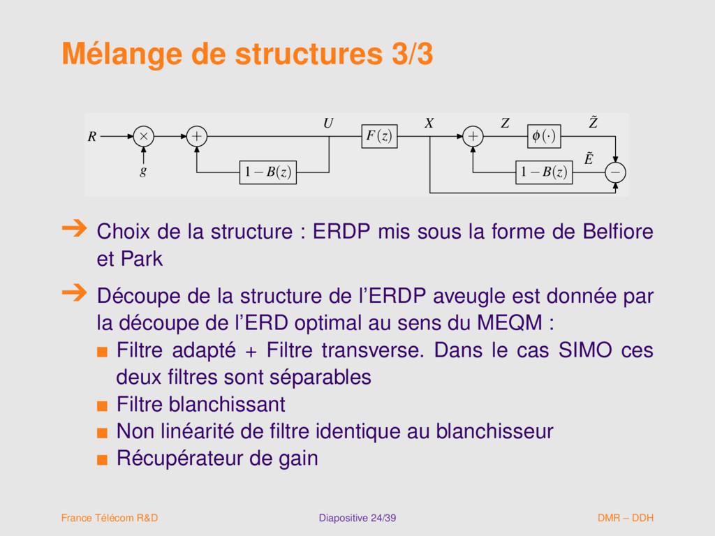 Mélange de structures 3/3 R × + F(z) + φ(·) g 1...