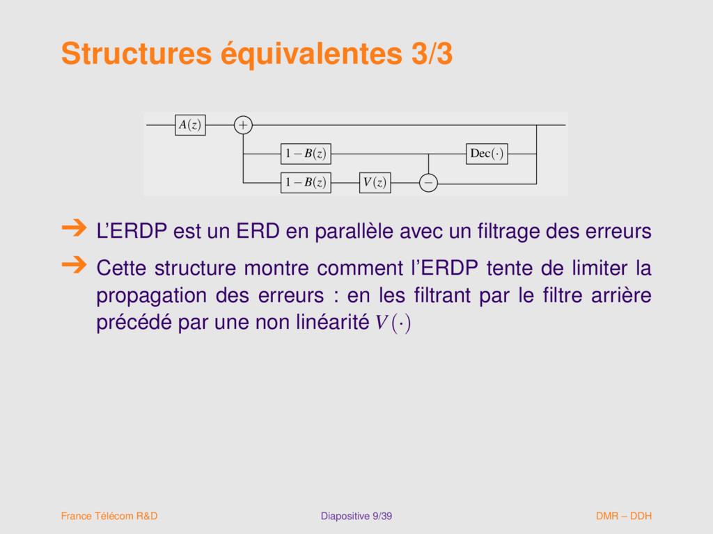 Structures équivalentes 3/3 A(z) + 1−B(z) Dec(·...