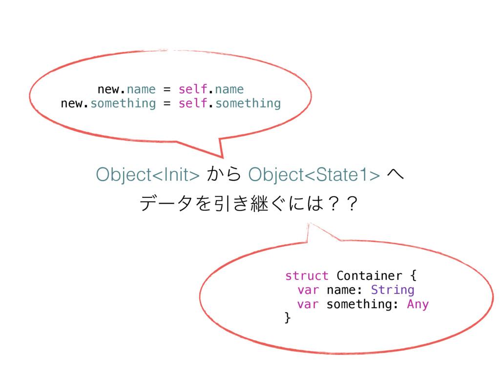 Object<Init> ͔Β Object<State1>  σʔλΛҾ͖ܧ͙ʹʁʁ ...