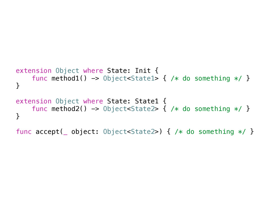 extension Object where State: Init { func metho...