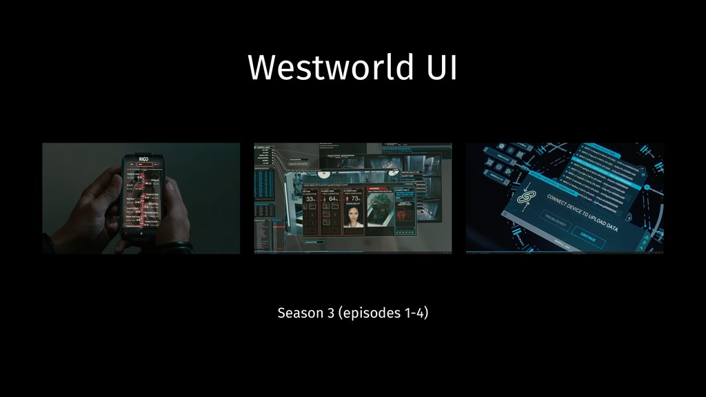 Westworld UI Season 3 (episodes 1-4)