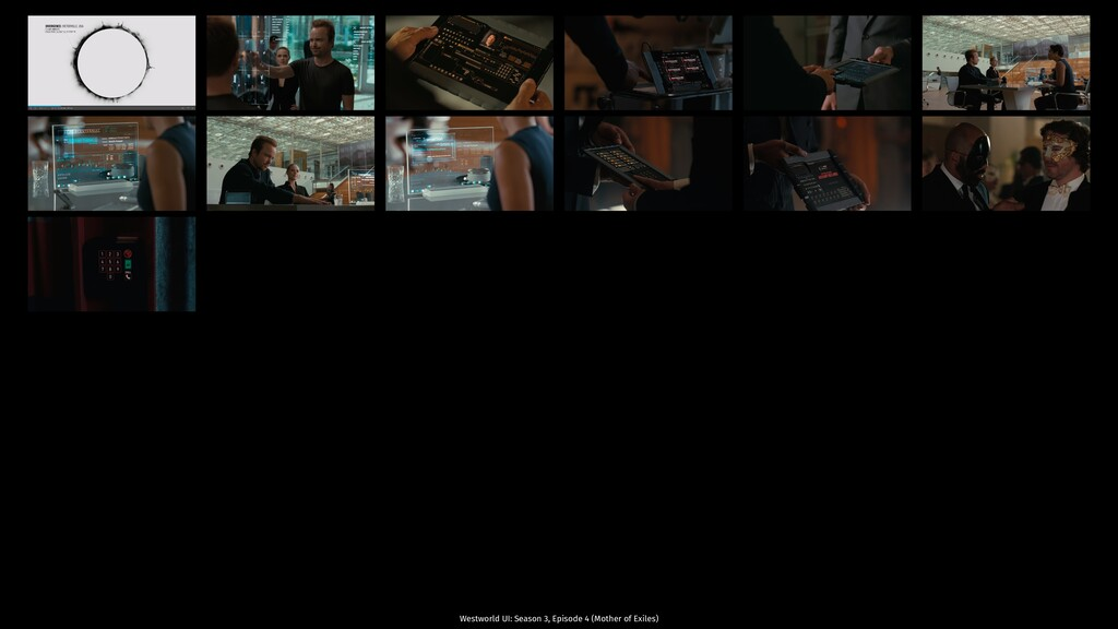 Westworld UI: Season 3, Episode 4 (Mother of Ex...