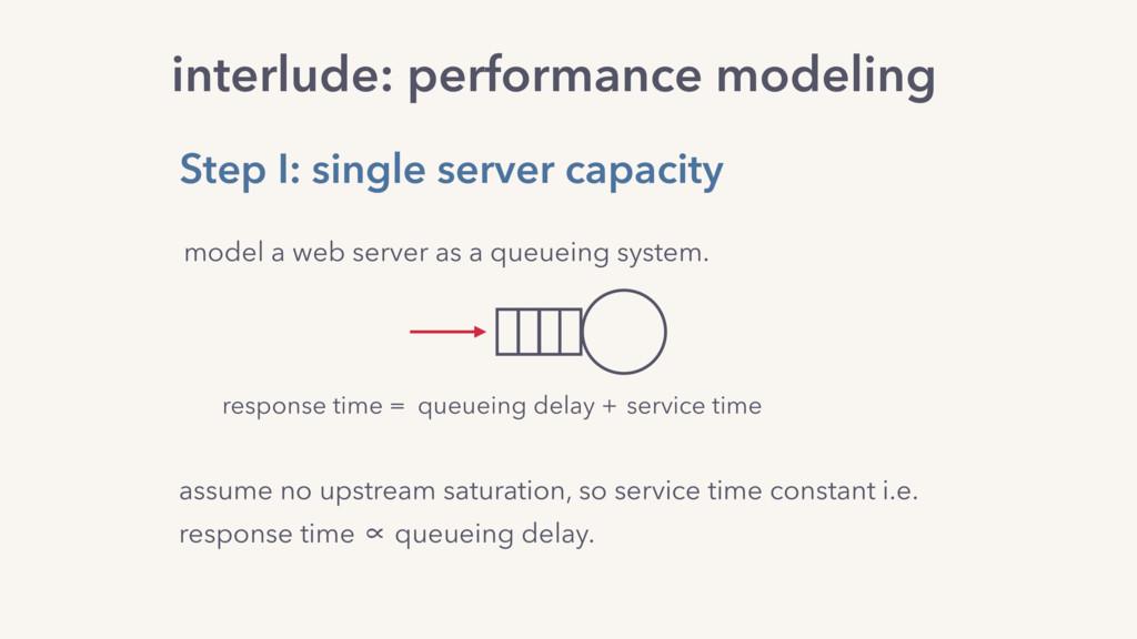 interlude: performance modeling assume no upstr...