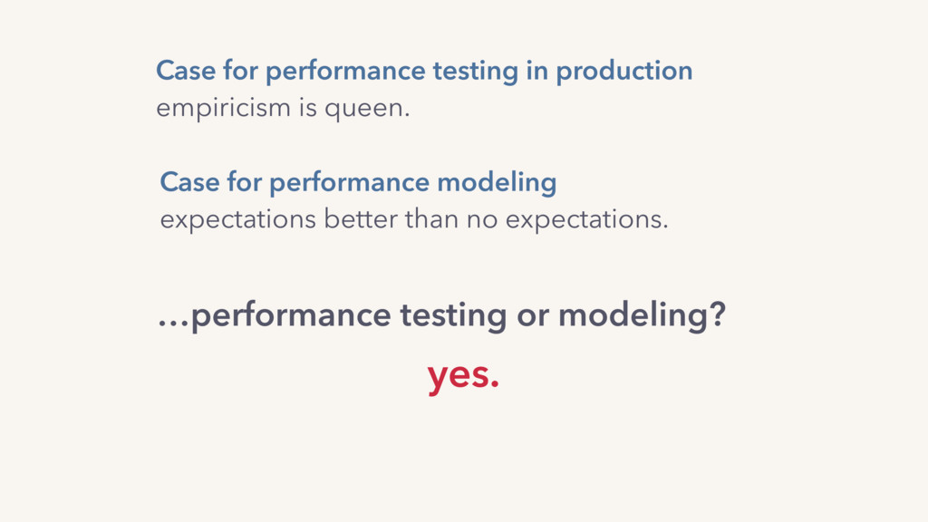 Case for performance testing in production