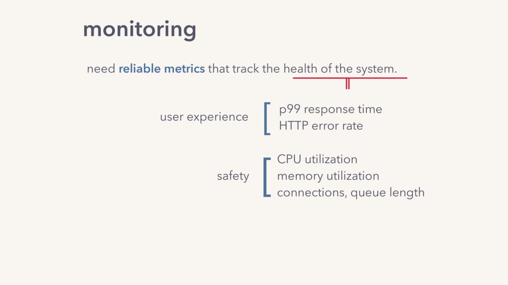monitoring need reliable metrics that track the...