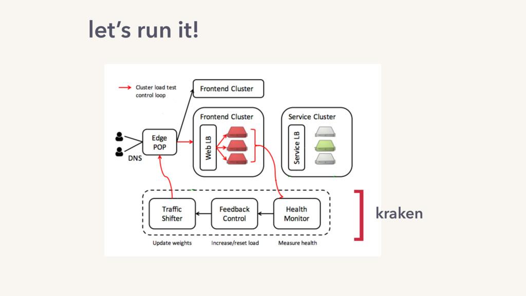 let's run it! kraken ]