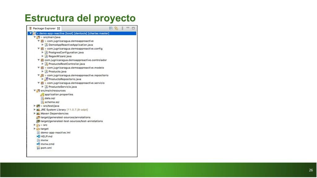 26 26 Estructura del proyecto