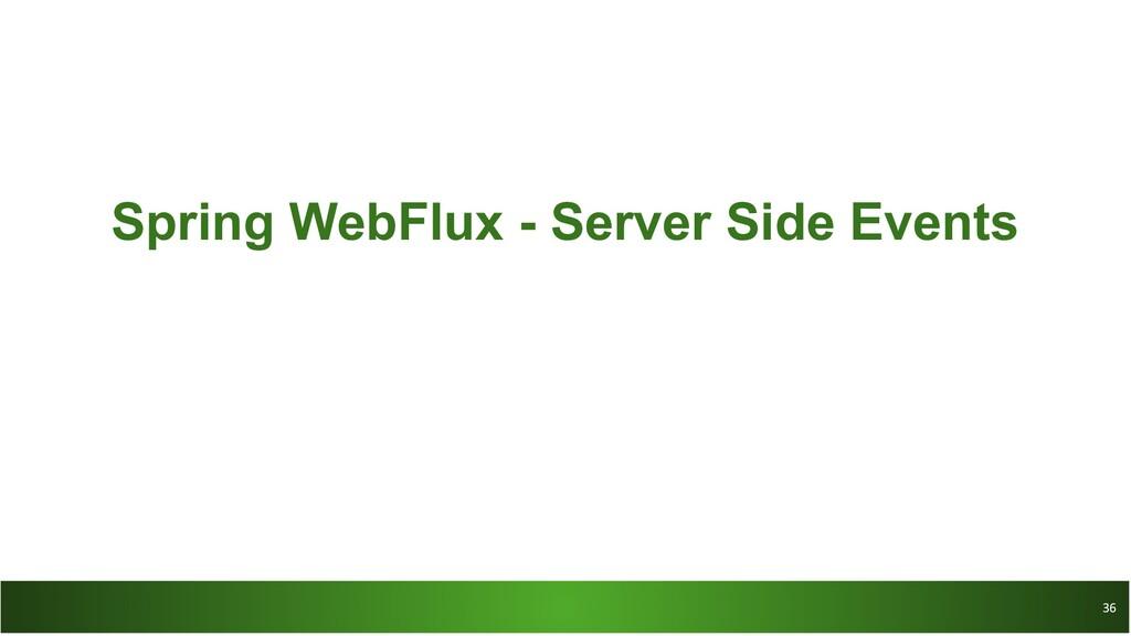 36 36 Spring WebFlux - Server Side Events