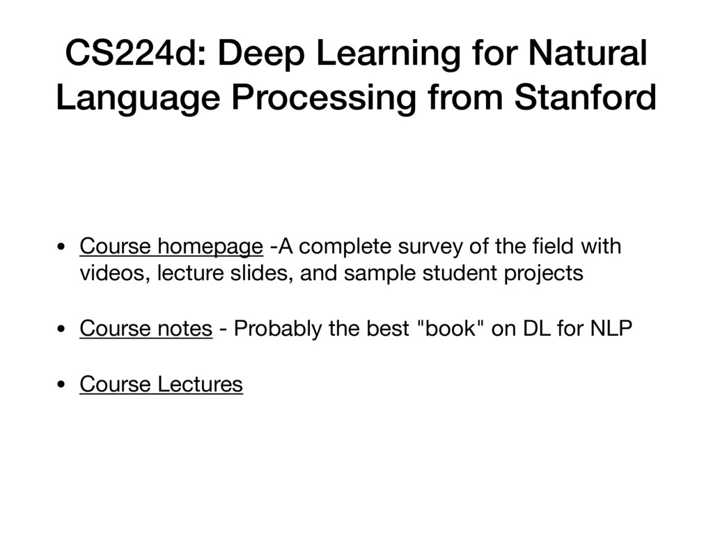 CS224d: Deep Learning for Natural Language Proc...