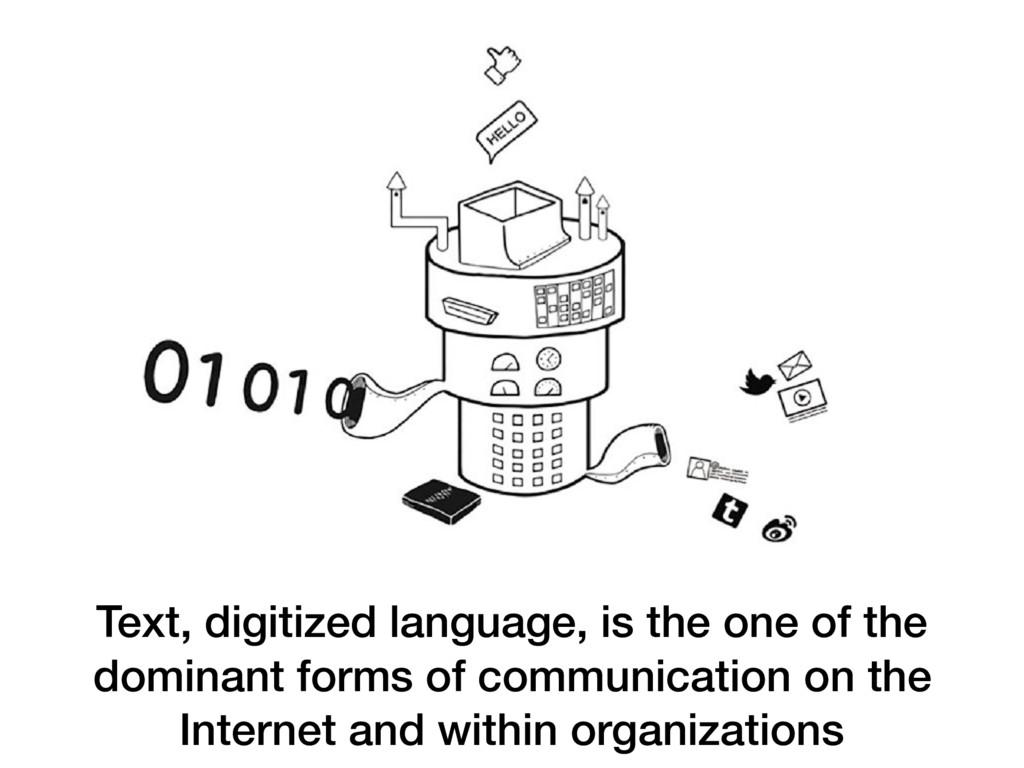 Text, digitized language, is the one of the dom...
