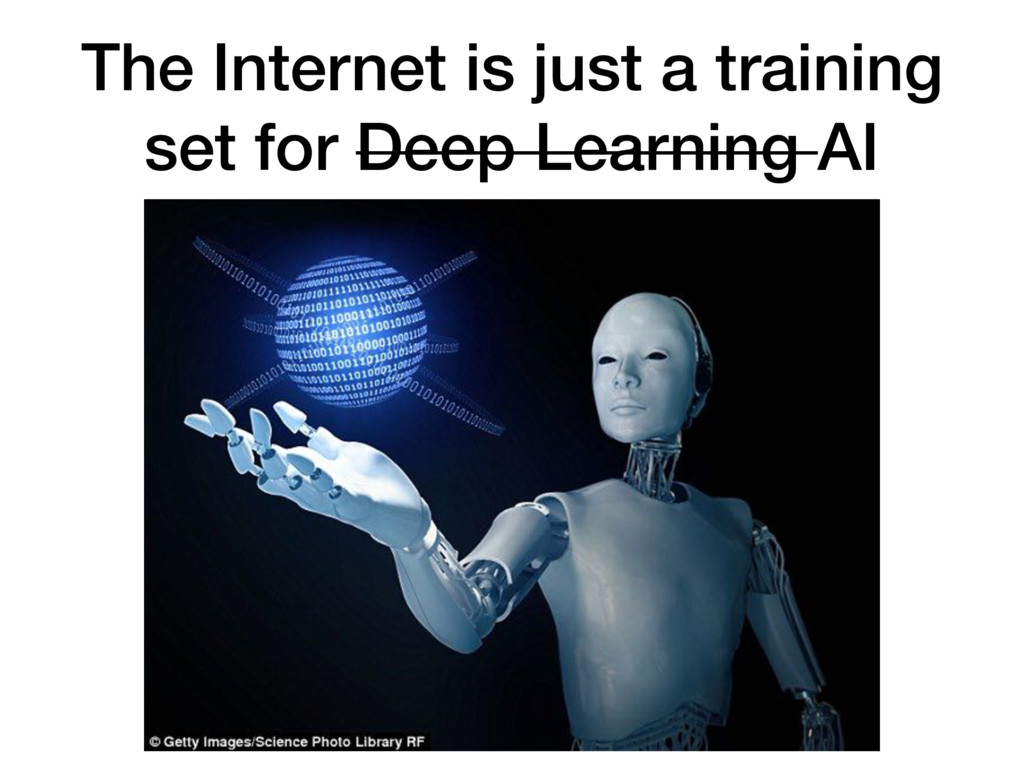 The Internet is just a training set for Deep Le...