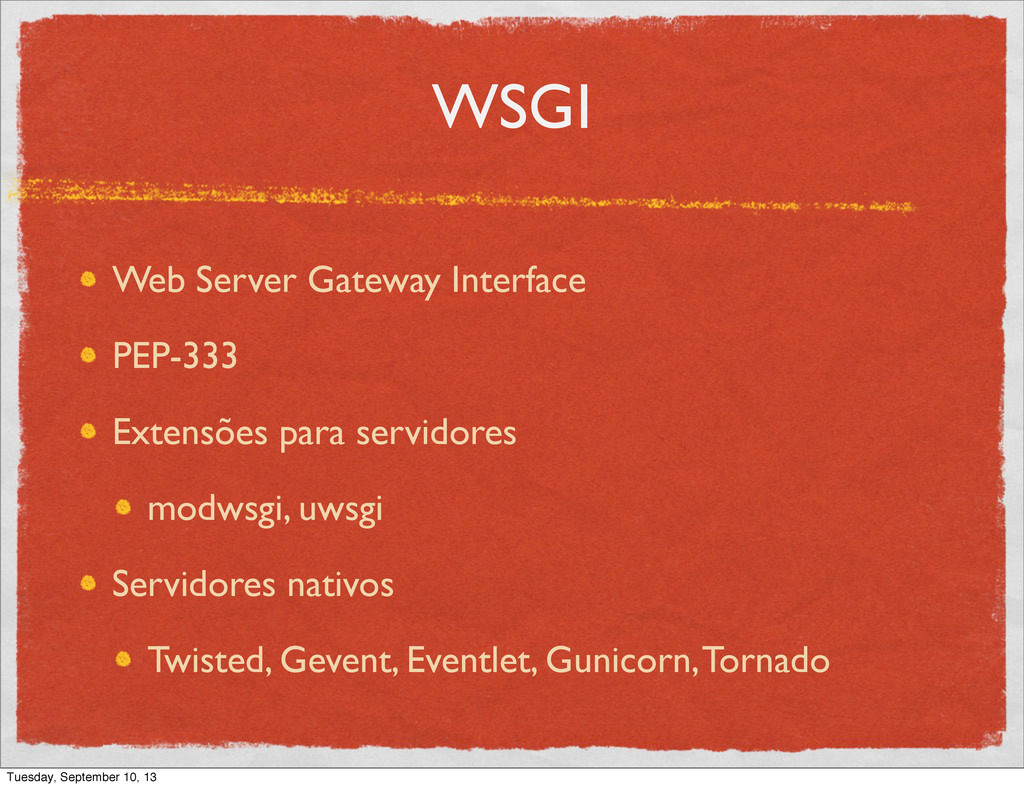 WSGI Web Server Gateway Interface PEP-333 Exten...