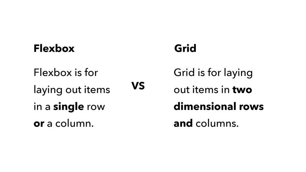Flexbox is for laying out items in a single row...