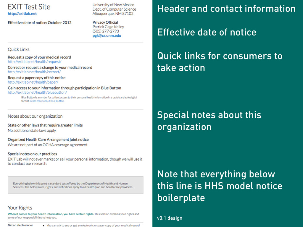 Header and contact information ! Effective date...