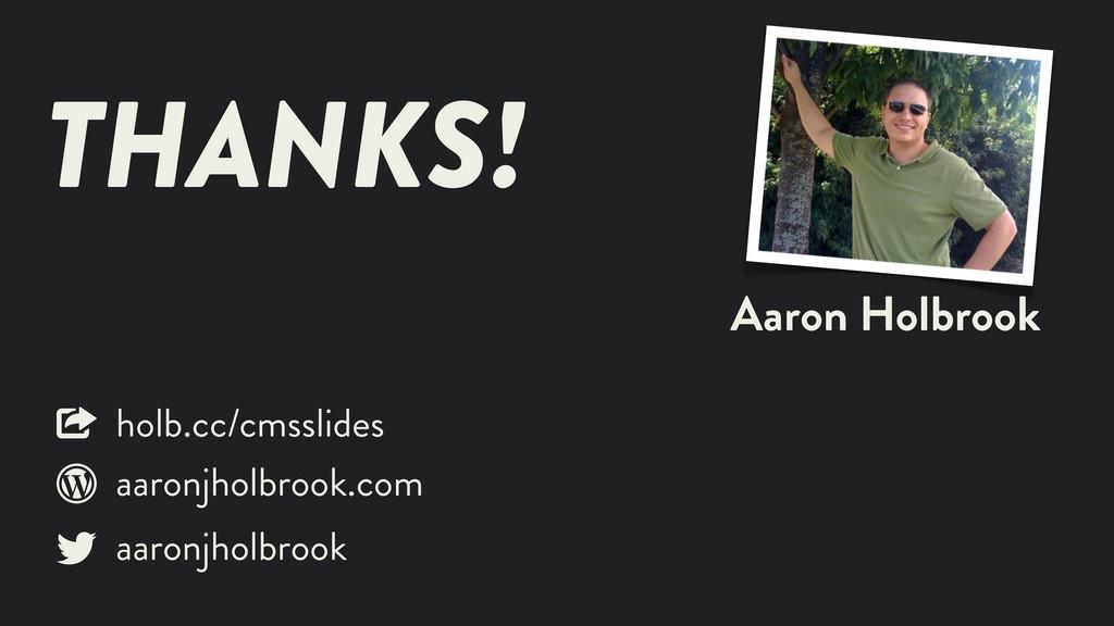 Aaron Holbrook THANKS! aaronjholbrook aaronjhol...
