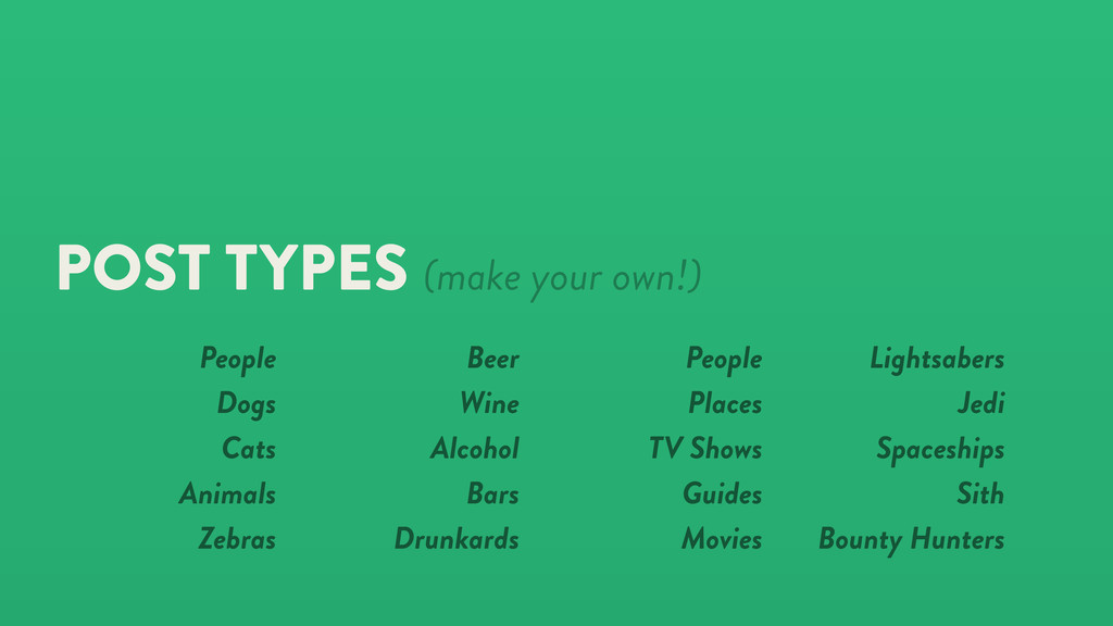 POST TYPES (make your own!) Beer Wine Alcohol B...