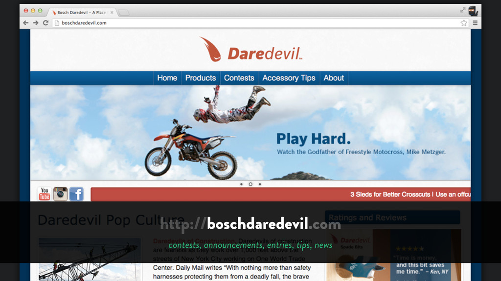 http://boschdaredevil.com contests, announcemen...